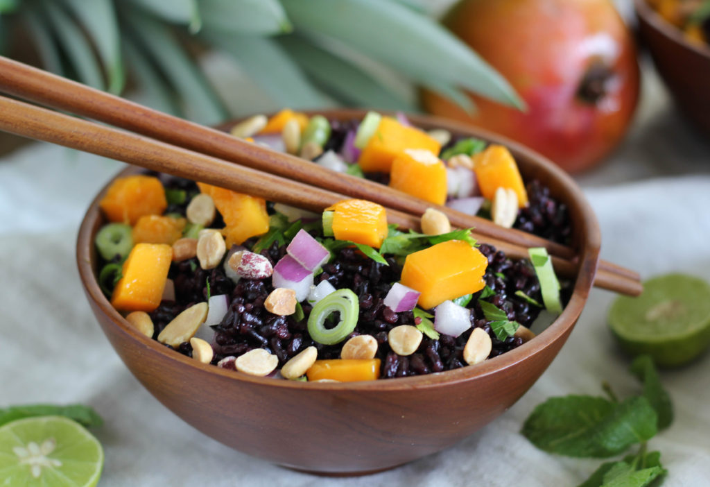 ... Forbidden Rice of Mango Mania: Black Rice Salad with Mango and Peanuts